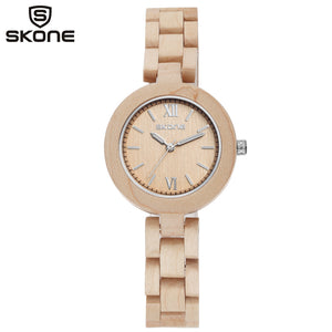 Women Wood Bracelet Watch
