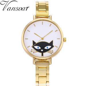 Cat Watch Luxury Women Thin Belt