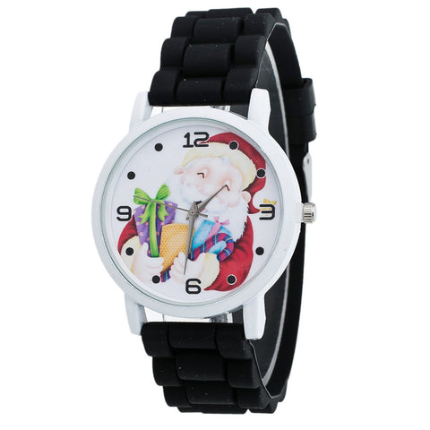 Christmas Female Silicone Strap Watch