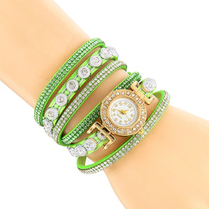 Casual Women Rhinestone Bracelet Watch