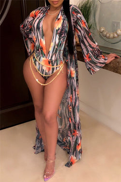 580408cf6eaa6 Floral Printed Swimsuit & Cover Up Sets - outyfit