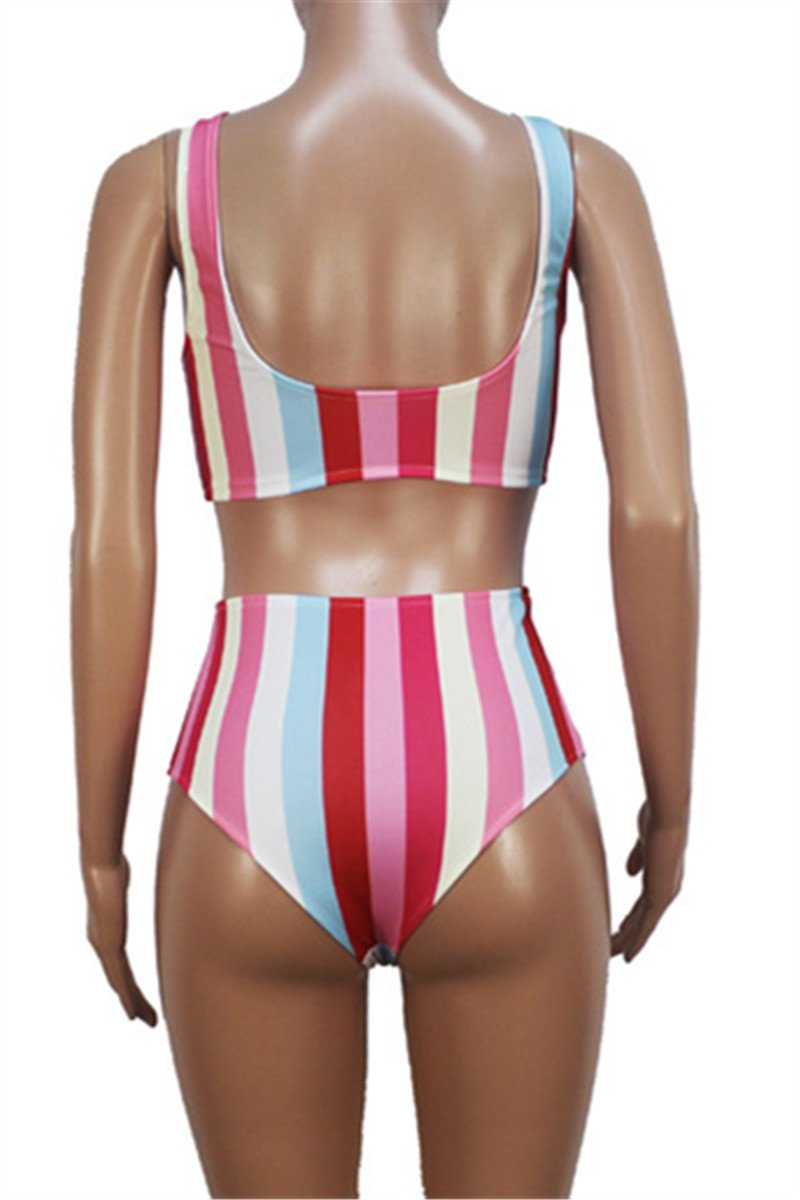 Rainbow Striped Swimwear Sets
