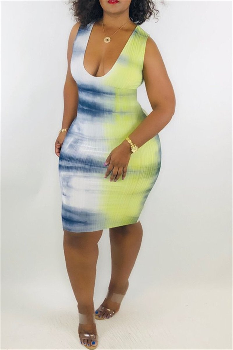 Casual Printed Midi Dress - outyfit