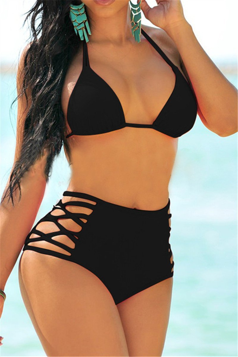 Lattice Side Two Piece Bikini