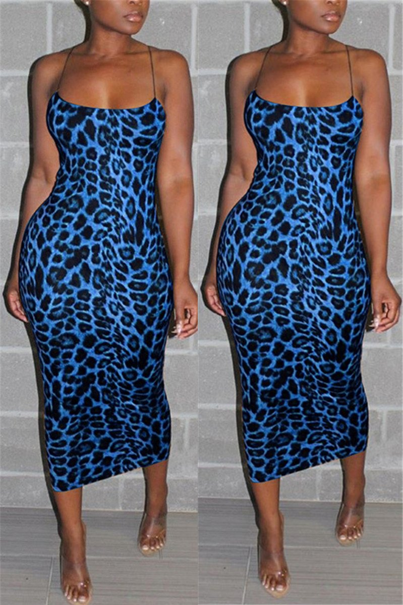 Plus Size Leopard Printed Cami Dress