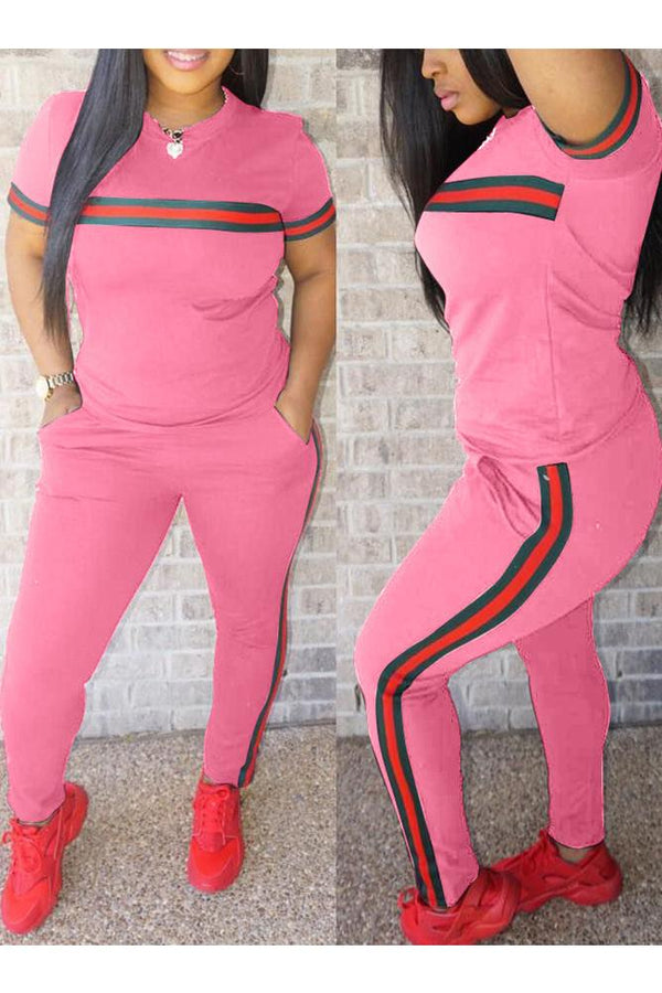 Stripes Trim Sporty Set