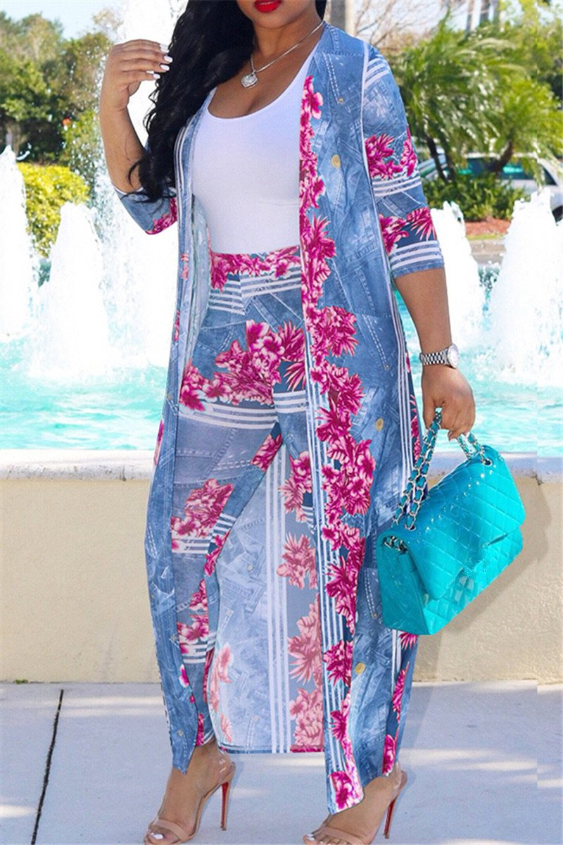 Floral Robe & Pant Set - outyfit
