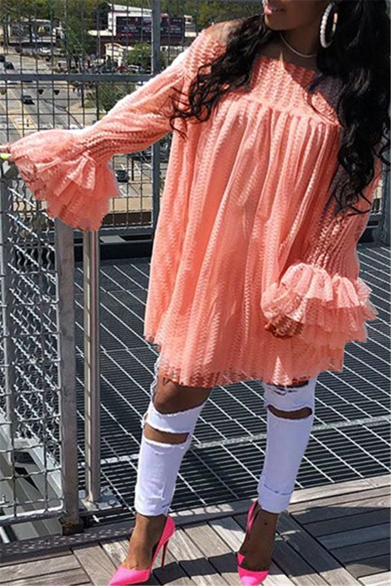 Off Shoulder Lace Mini Dress