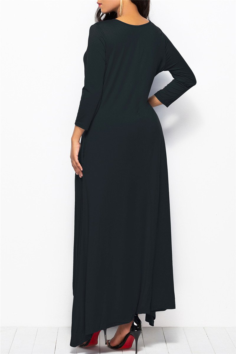 Irregular Hemline Plus Size Dress
