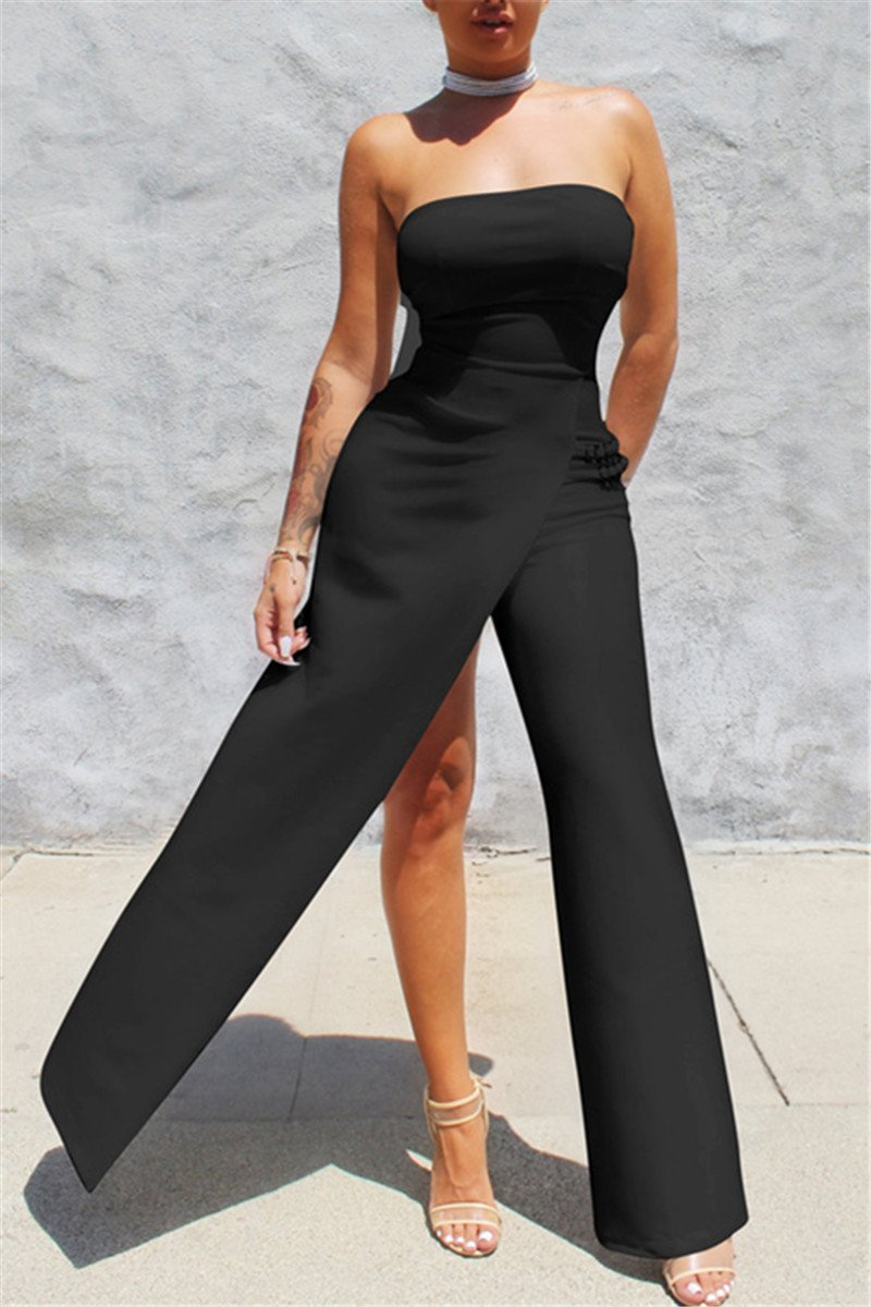 Strapeless One Leg Jumpsuit