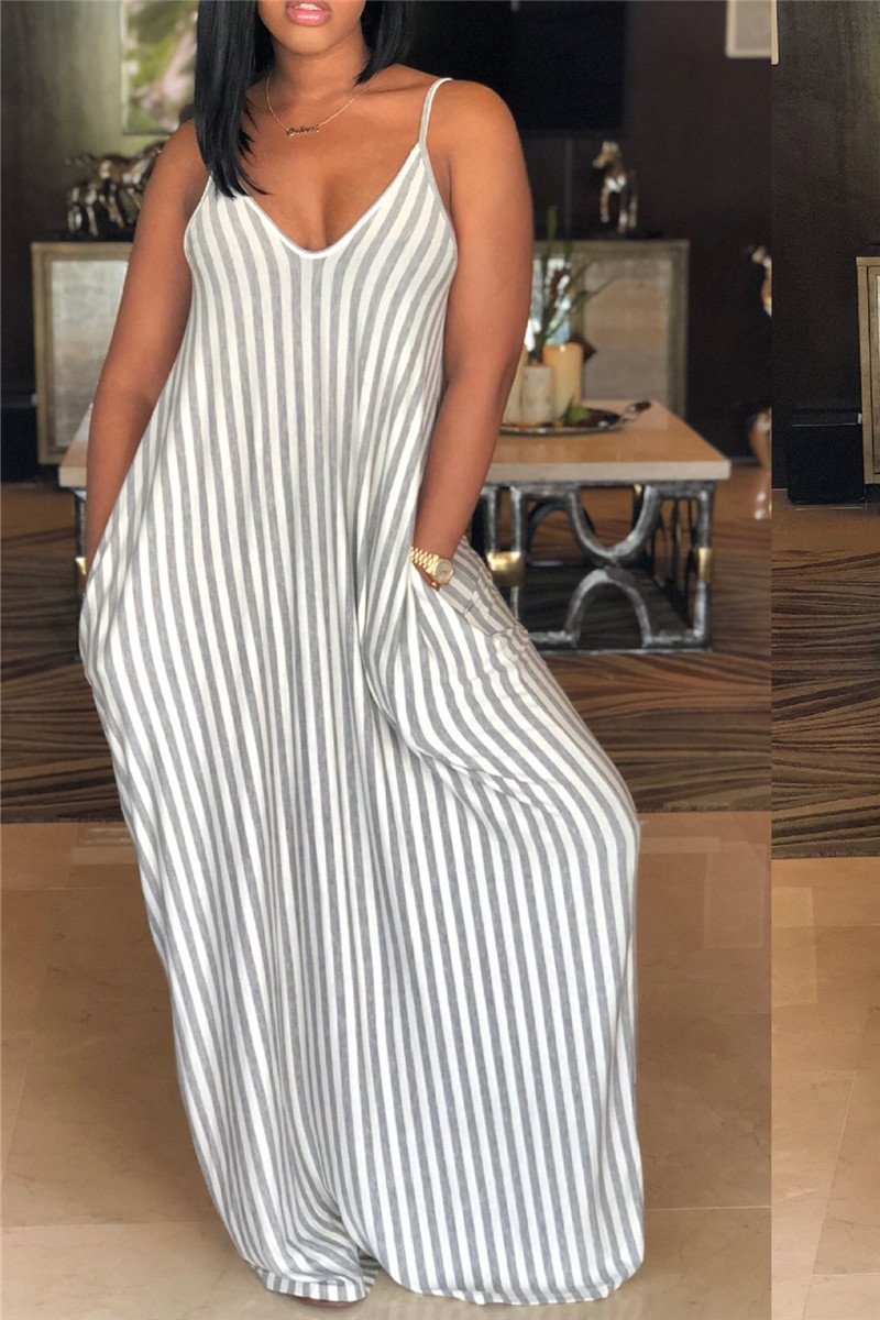 Cami Stripe Maxi Dress - outyfit