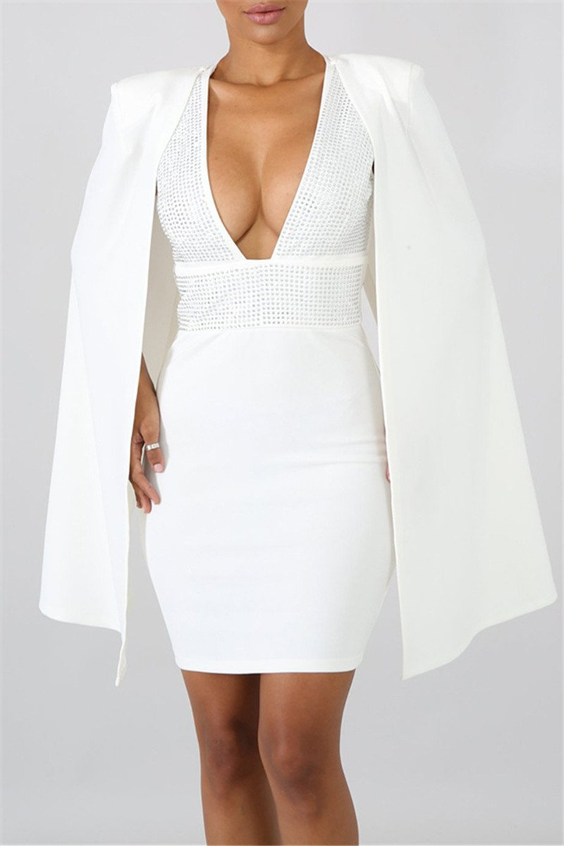 Mini Dress With Detachable Cloak