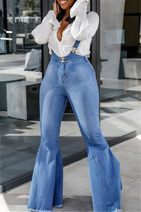 Casual Flares Denim Overall - outyfit