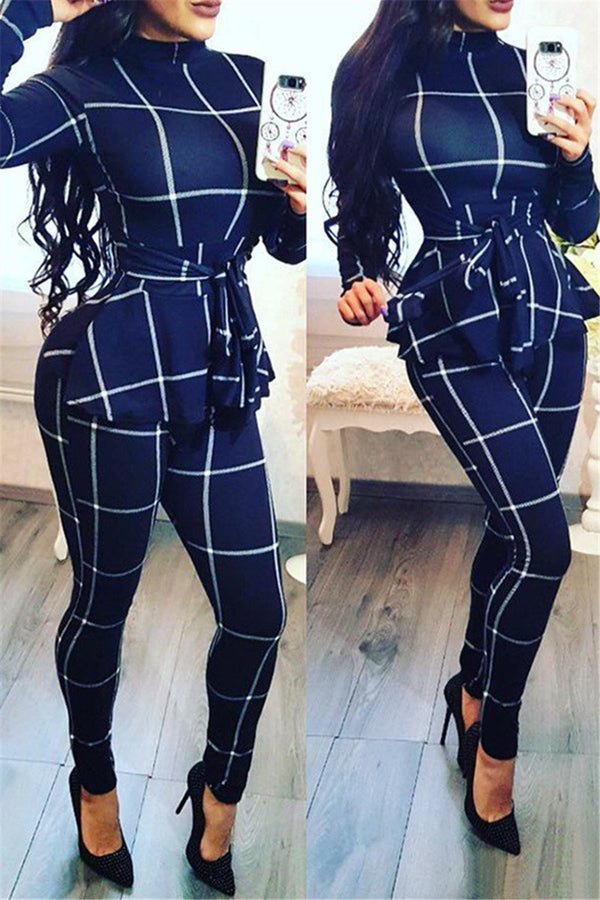 High Collar Lattice Jumpsuit - outyfit