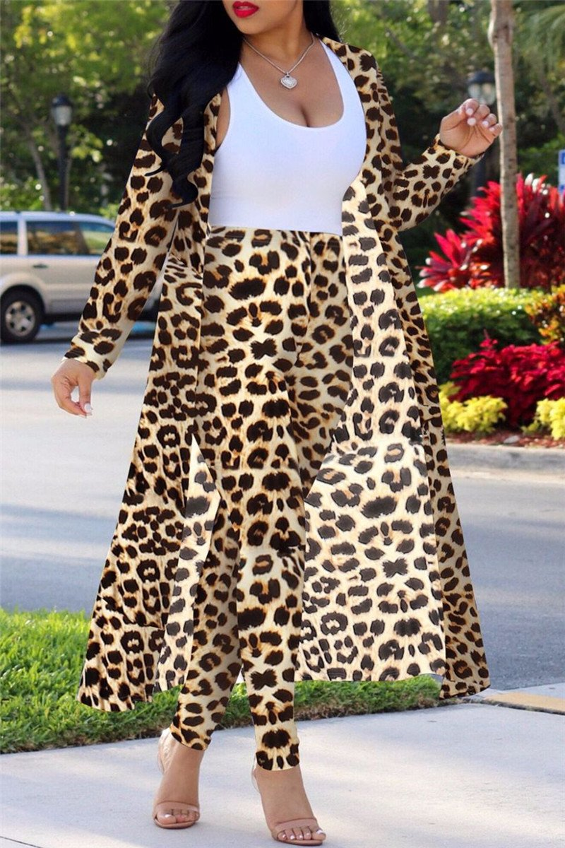 Leopard Printed Two PC Sets