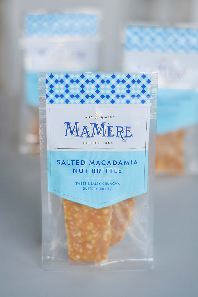 SALTED MACADAMIA NUT BRITTLE 80g