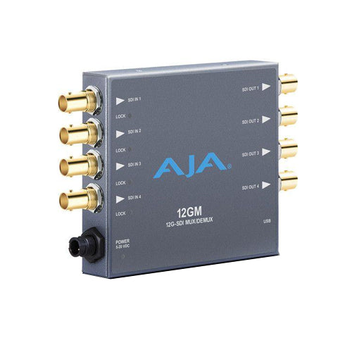 AJA 12G/6G/3G/1.5G HD/SD SDI Muxer and Demuxer