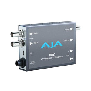 AJA UDC 3G-SDI up down cross-conversion 2-Ch unbalanced audio output