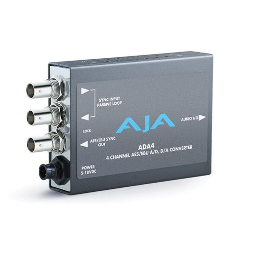 AJA-ADA4 Audio A/D and D/A Converter 4-Ch Bidirectional balanced XLR