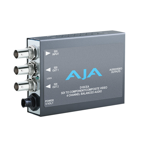AJA-D10CEA Distribution Amplifier Audio and Video 10-bit SDI to Component or Composite embedded to analog audio