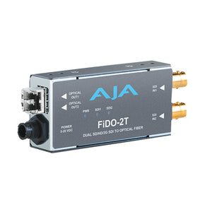 AJA FiDO-2T-MM l 3G-SDI to Multi-Mode LC Fiber Transmitter