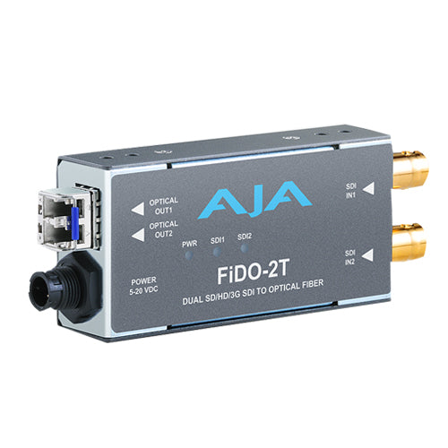 AJA-FiDO-2T Dual Channel 3G-SDI to Optical Fiber