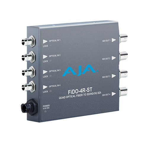 AJA-FiDO-4R-ST 4-Channel Single-Mode ST Fiber to 3G-SDI Receiver