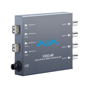 AJA-FiDO-4R  4-Channel Single-Mode LC Fiber to 3G-SDI Reciever