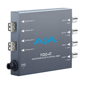 AJA-FiDO-4T-MM 4-Channel 3G-SDI to Multi-Mode LC Fiber Transmitter