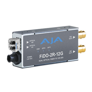 AJA FIDO R 12G 1-Channel Single-Mode LC Fiber to 12G-SDI Receiver