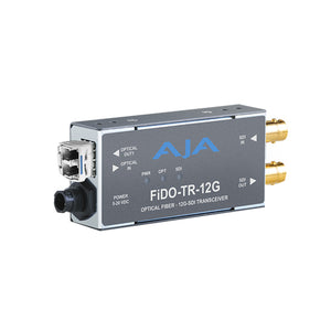 AJA 1-Channel 12G-SDI/LC Single-Mode LC Fiber Transceiver