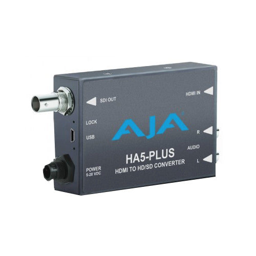 AJA-HA5-Plus HDMI to 3G-SDI with DSLR format support includes 1 meter HDMI cable