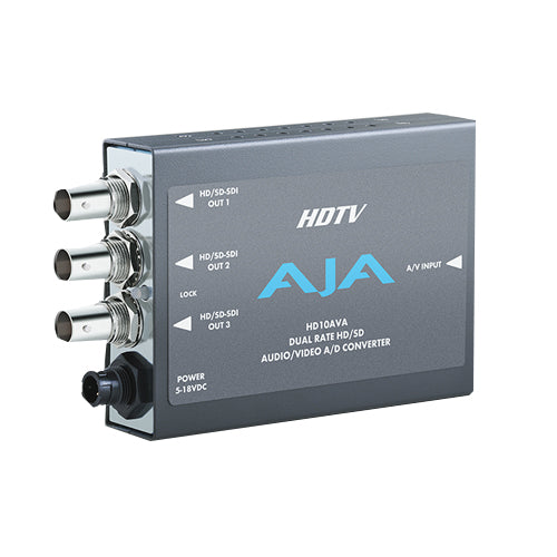 AJA-HD10AVA  A/D HD/SD YPbPr to HD/SD SDI 4-Ch analog XLR audio to embedded