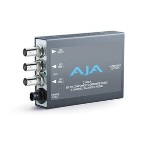 AJA-HD10CEA D/A HD/SD SDI to HD/SD YPbPr/CV 4-Ch embedded audio to XLR analog