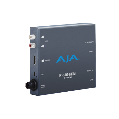 AJA-IPR-1G-HDMI JPEG 2000 IP Video and Audio to HDMI Mini-Converter