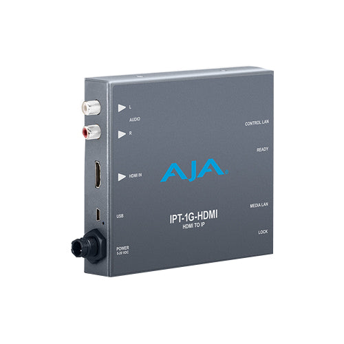 AJA-IPT-1G-HDMI  HDMI to JPEG 2000 IP Video and Audio Mini-Converter