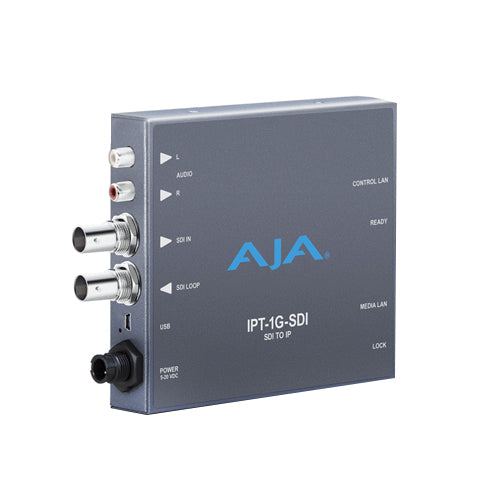 AJA-IPT-1G-SDI  3G-SDI to JPEG 2000 IP Video and Audio Mini-Converter