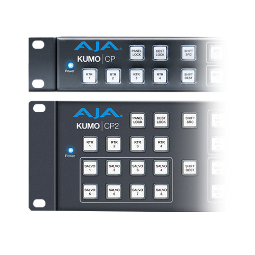 AJA 2RU Hardware Control Panel for KUMO routers