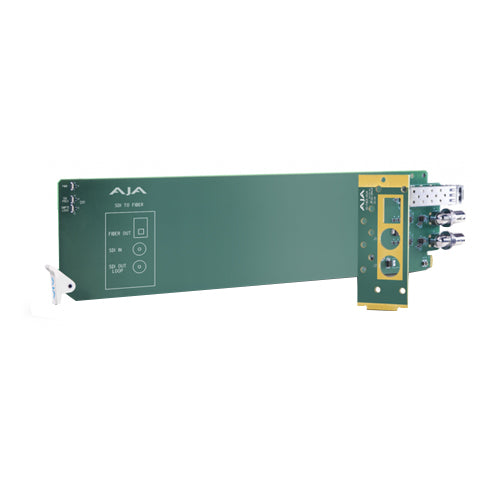 AJA AJA-OG-FIBER-2R-MM 2-Channel Multi-Mode LC Fiber to 3G-SDI Receiver - Requires 2 slots in frame