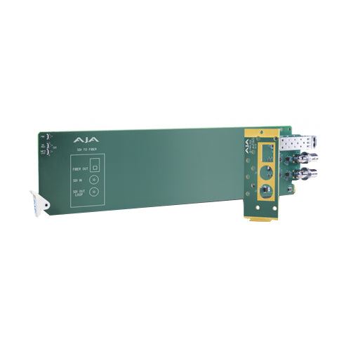 AJA 2-Channel 3G-SDI to Multi-Mode LC Fiber Transmitter - Requires 2 slots  in frame