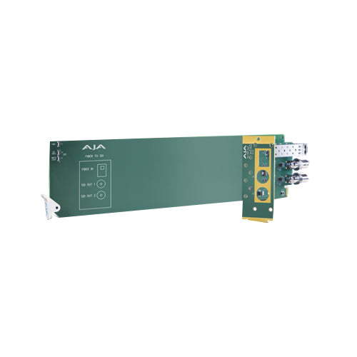 AJA OG-FIBER-TR-MM 1-Channel 3G-SDI/LC Multi-Mode LC Fiber Transceiver - Requires 2 slots in frame