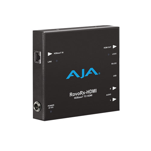 AJA-ROVORX-HDMI  HDBaseT to HDMI (w/ PoH) also facilitates power/display/control/interfaceto RovoCam