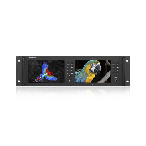 Konvision KRM-702A 3RU 7inch x2 screens Full HD Rackmount Monitor