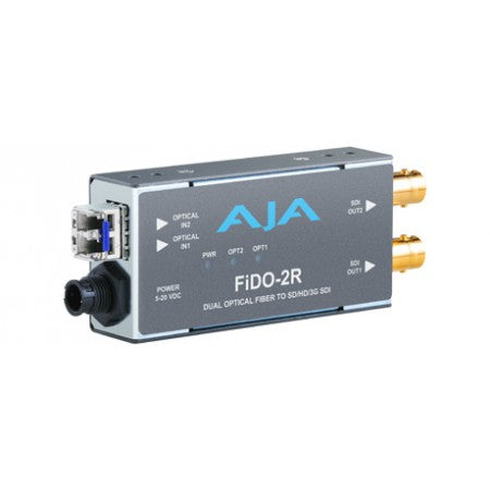 AJA FiDO-2R Dual Channel Optical Fiber to SD/HD/3GSDI