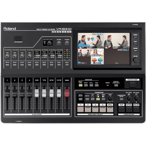 Roland VR50HD Multi format HD AV Mixer with USB 3.0 for streaming & capture