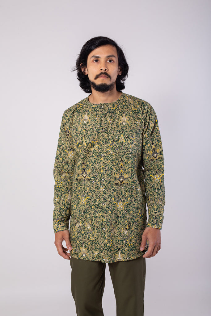 Banana Leaf Green Batik Top