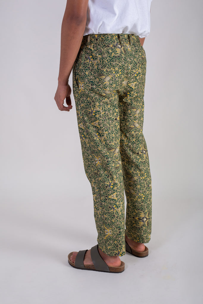 Banana Leaf Green Batik Pants