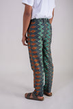 Blue Ikat Diamonds Batik Pants