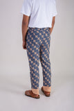 Navy Salmon Batik Pants