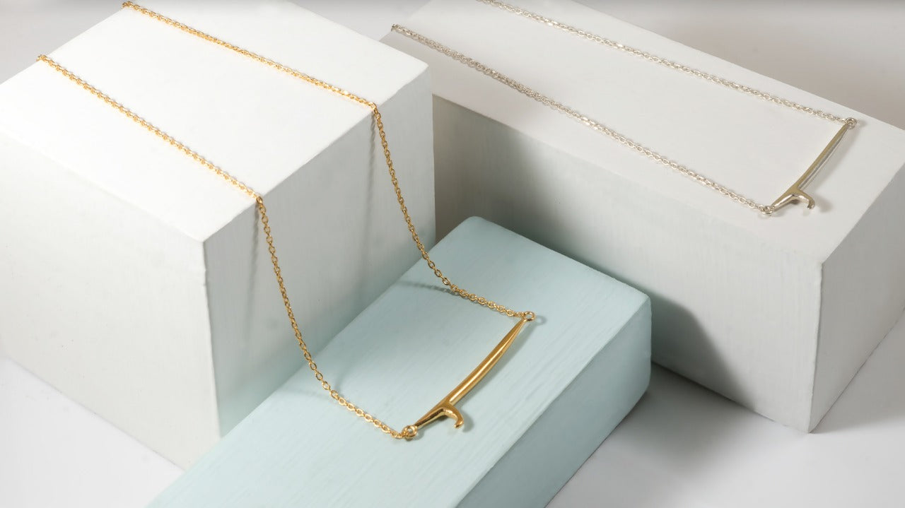 SINGLE FIN NECKLACE - Gold (plated)